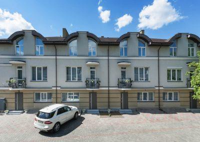 Building's facade. Hotel Sumskaya Apartments, Kiev, Ukraine.