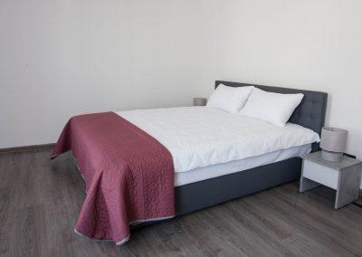 Bed. Suite room in Sumskaya Apartments, Kiev, Ukraine.