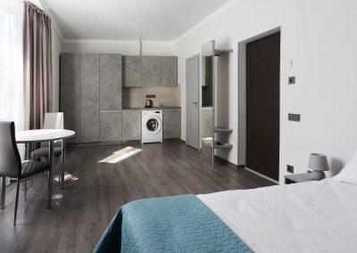 Junior room in the hotel Sumskaya Apartments, Kiev, Ukraine.