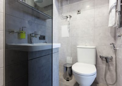 Bathroom. Studio room in Sumskaya Apartments, Kiev, Ukraine.